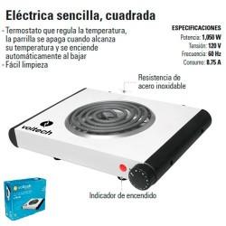Parrilla Electrica Sencilla Cuadrada