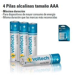 4 Pilas Alcalinas Tamaño AAA