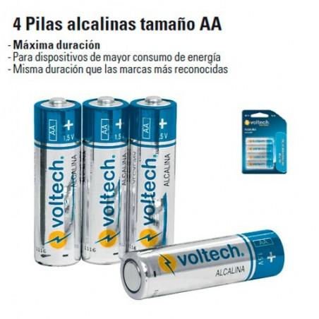 4 Pilas Alcalinas Tamaño AA