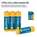 4 Pilas Zinc-Carbon Tamaño AA