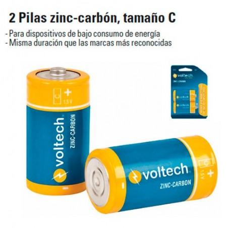 2 Pilas Zinc-Carbon Tamaño C