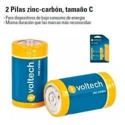 2 Pilas Zinc-Carbon Tamaño D