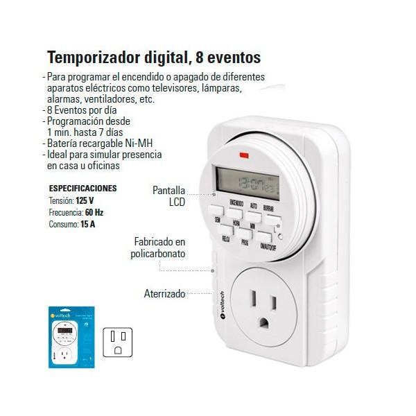 Temporizador Digital 8 Eventos