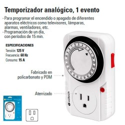 Temporizador Analogico 1 Evento