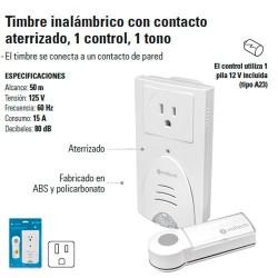 Timbre Inalambrico con Contacto Aterrizado 1 Control 1 Tono