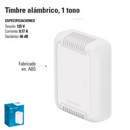 Timbre Alambrico 1 Tono