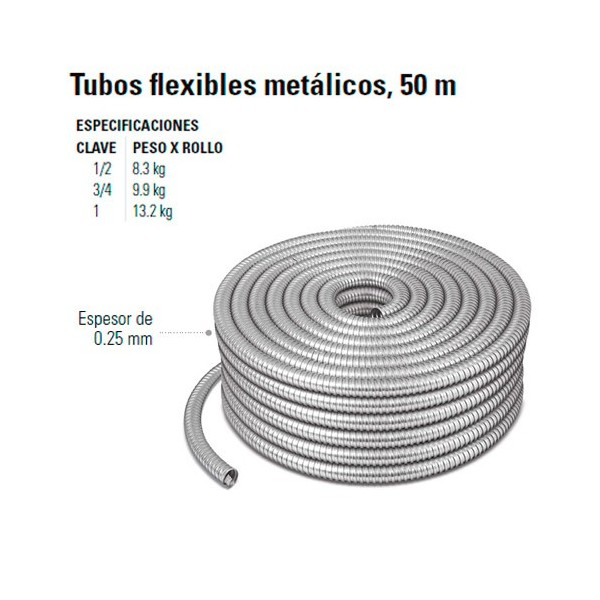 Tubos Flexibles Metalicos 50 m