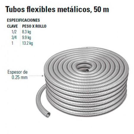Tubos Flexibles Metalicos 50 m