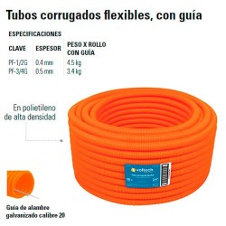 Tubo Corrugado Flexible con Guia