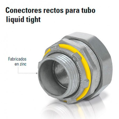 Conector Recto Para Tubo Liquid Tight