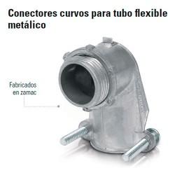 Conector Curvo Para Tubo Flexible Metalico