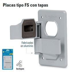 Placa Duplex tipo FS con Tapas de Sobreponer