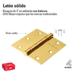Bisagra de Laton Solido