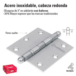 Bisagra de Acero Inoxidable