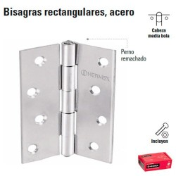Bisagra Rectangular de Acero