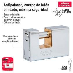 Candado Antipalanca Cuerpo de Laton Blindado Maxima Seguridad