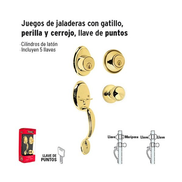 Juego de Jaladeras con Gatillo Perilla y Cerrojo
