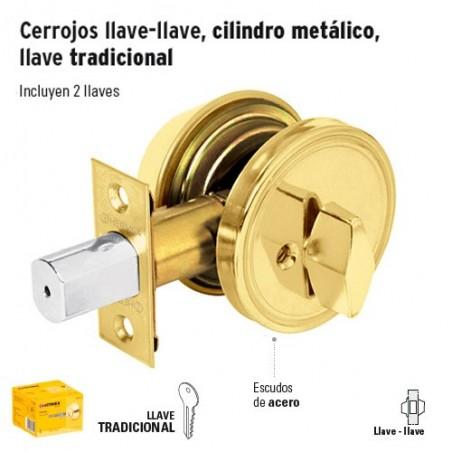 Cerrojo Llave-Mariposa de Laton