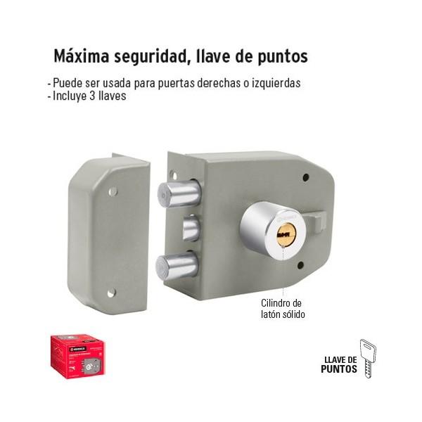 Cerradura Maxima Seguridad Llave de Puntos