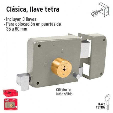 Cerradura Clasica Llave Tetra