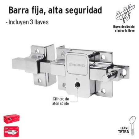 Cerradura de Barra Fija Alta Seguridad