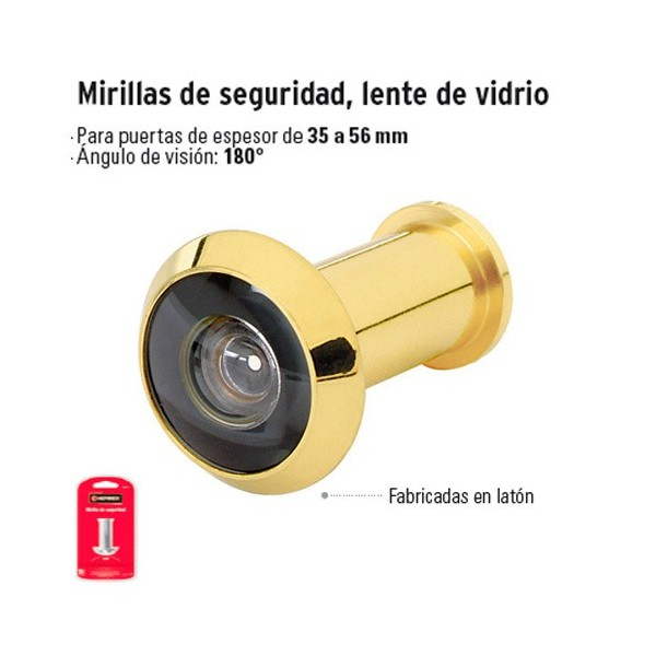 Mirilla de Seguridad Lente de Vidrio