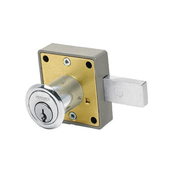 Cerradura para Mueble Accion Horizontal Cilindro 29 mm Cromo