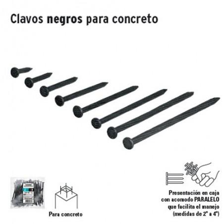 1 Kg de Clavos Negros Para Concreto en Bolsa