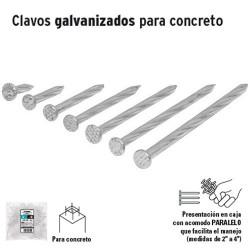 1 Kg de Clavos Galvanizados Para Concreto en Bolsa