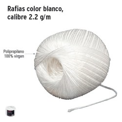 Rafias Color Blanco Calibre 2,2 g/m