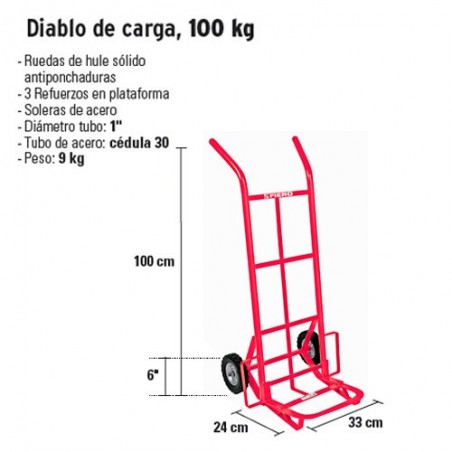 Diablo de Carga 100 kg