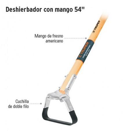 """Deshierbador con Mango de Fresno Americano 54"""" TRUPER"""