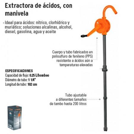 Extractora de Acidos y Solventes con Manivela TRUPER