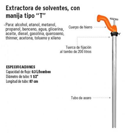 "Extractora de Solventes con Manija Tipo ""T"" TRUPER"