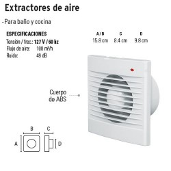 Extractor de Aire VOLTECK