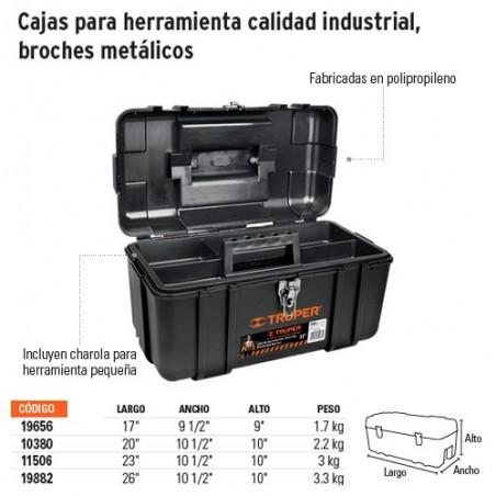 Cajas para Herramienta Calidad Industrial Broches Metalicos TRUPER