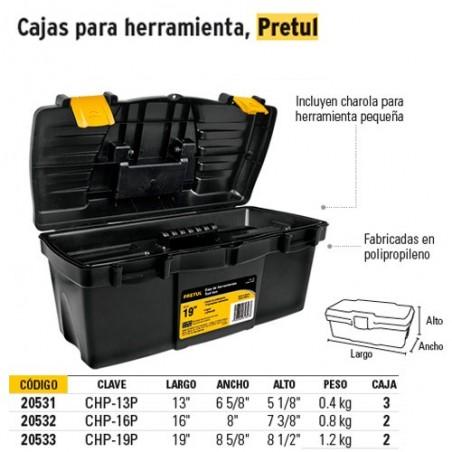Caja para Herramienta Broches Amarillos PRETUL