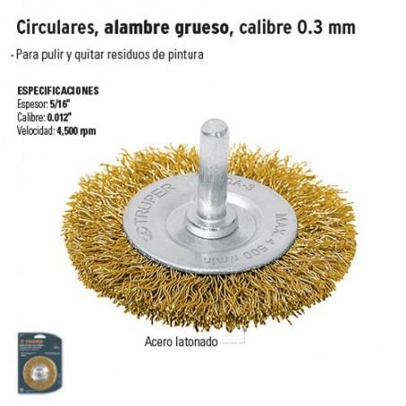 Cardas Circulares Alambre Grueso Calibre 0.3 mm TRUPER