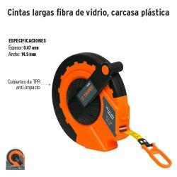 Cinta Larga de Fibra de Vidrio Carcasa Plastica TRUPER