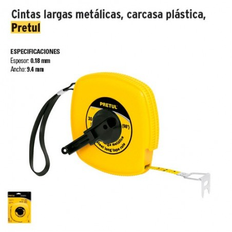 Cinta Larga Metalica Carcasa Plastica PRETUL