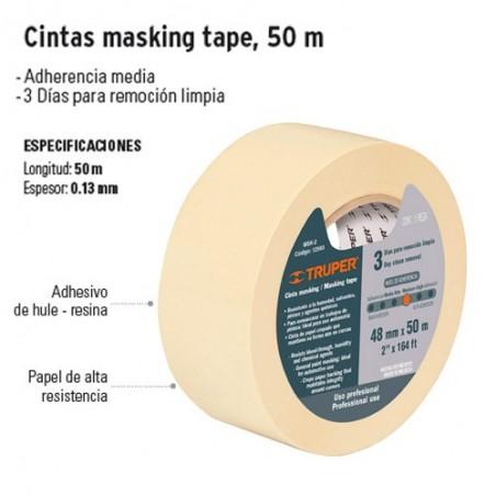 Cintas Masking Tape 50 m TRUPER