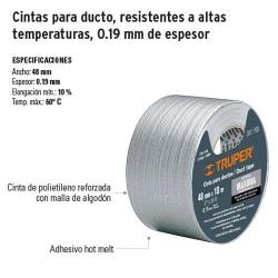 Cintas Para Ducto Resistentes a Altas Temperaturas 0.19 mm de Espesor TRUPER