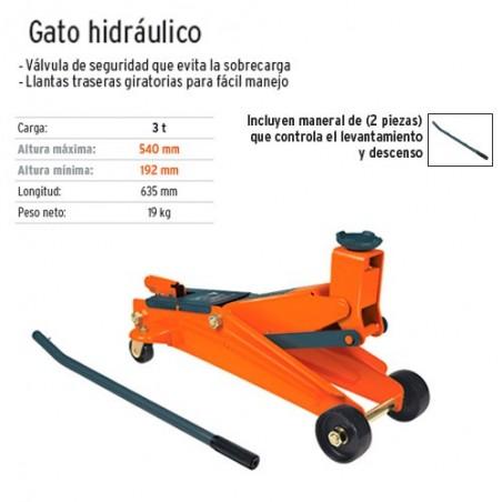 Gato Hidraulico 3 Toneladas TRUPER