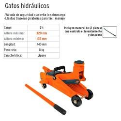 Gato Hidraulico 2 Toneladas Ligero TRUPER