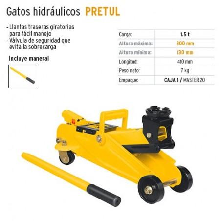 Gato Hidraulico 1.5 Toneladas PRETUL