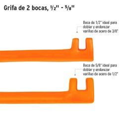 "Grifa de 2 Bocas 1/2"" - 5/8"" TRUPER"