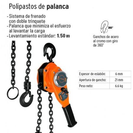 Polipasto de Palanca 1 Tonelada TRUPER