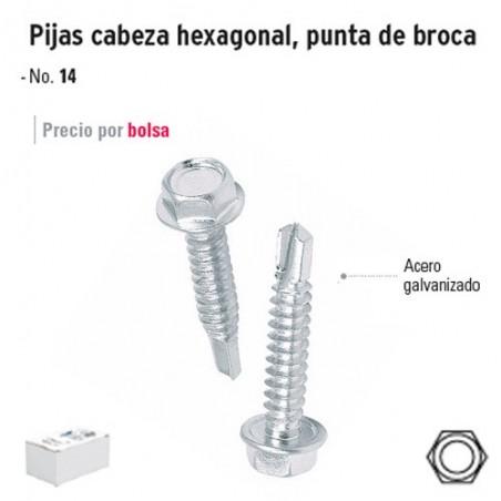 Pija Cabeza Hexagonal Punta de Broca FIERO