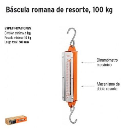 Bascula Romana de Resorte 100 Kg TRUPER