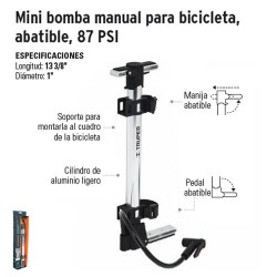 Mini Bomba Manual para Inflar Abatible TRUPER